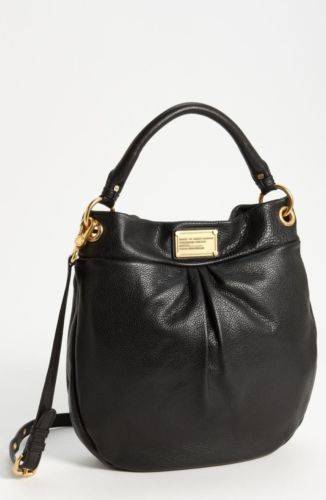428 Marc by Marc Jacobs  Classic Q  Hillier Hobo Bag Black Leather ... 296ebdafb2