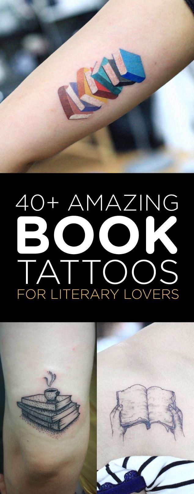 40+ Amazing Book Tattoo Designs | TattooBlend