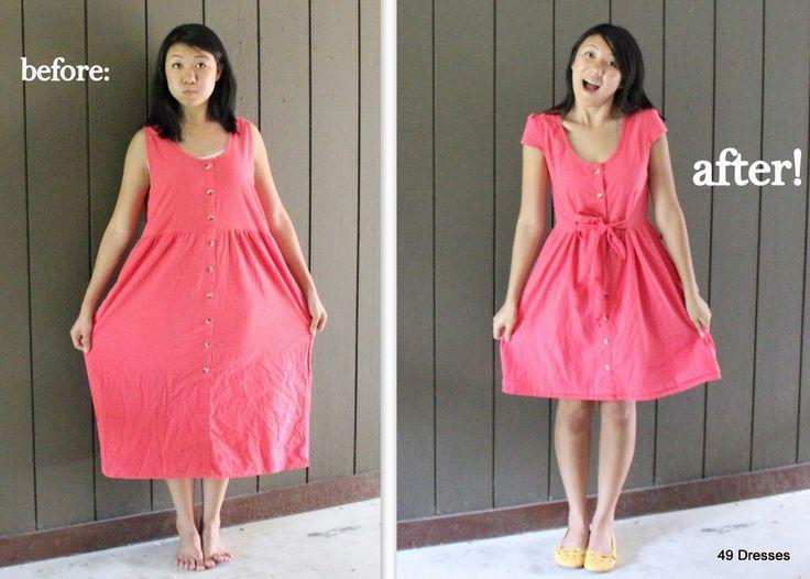 49 Dresses: DIY... This girl is brilliant.
