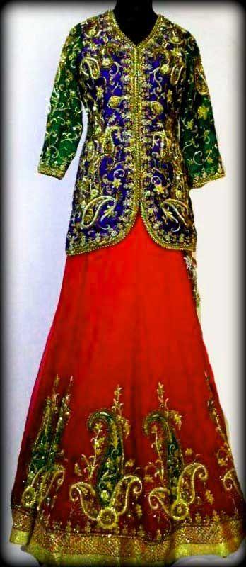 beautiful embroidered jacket lehnga for wedding night!