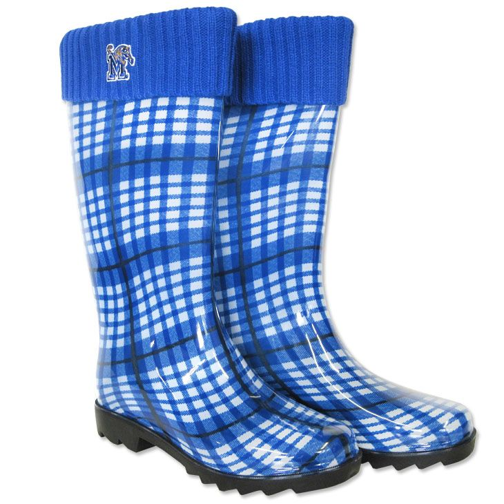 Plaid Memphis Tigers Rain Boots  I really needed these today walking across campus!!!
