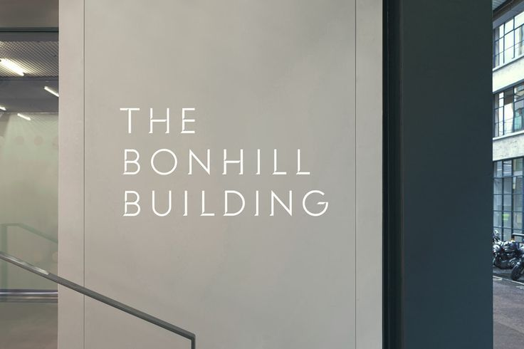 The Bonhill Building // branding, identity, signage, typography