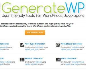 GenerateWP: an Online WordPress Codes Generator