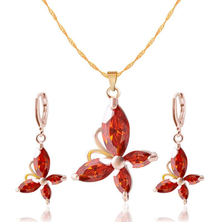 Butterfly Flower Jewelry Set with Austrian Crystal // Price: $10.95 & FREE Shipping Worldwide //  We accept PayPal and Credit Cards.    #earrings #earringsoftheday #earringfashion #jewelry #earringlove #jewelrygram #instajewelry #fashionjewelry #jewelrydesign #jewelrydesigner #jewelrylover #jewelryforsale #jewelrymaking #q80 #jewelryaddict #handmadejewelry #hermesbelts #q8girls #hermestwilly #jewelryoftheday #necklace #hermescharm #finejewelry #showmeyourrings #jotd