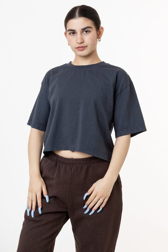 1820gd Oversized Crop Tee In 2020 Crop Tee Fishnet Crop Tops Classy Jumpsuit