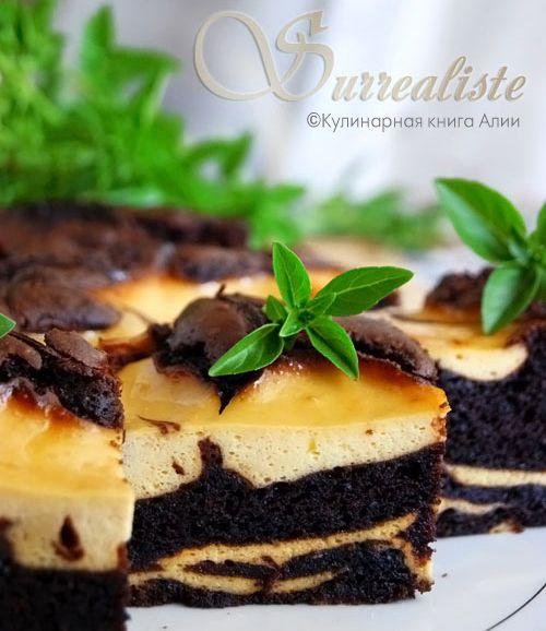 Бананово-творожно-шоколадный торт