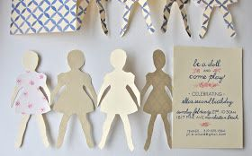 paper & ink: paper doll invitations