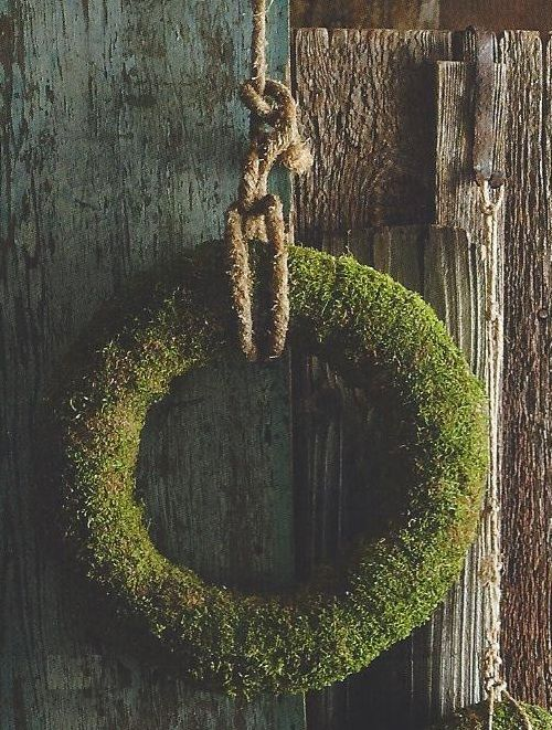 Moss wreath.  Clean and modern looking