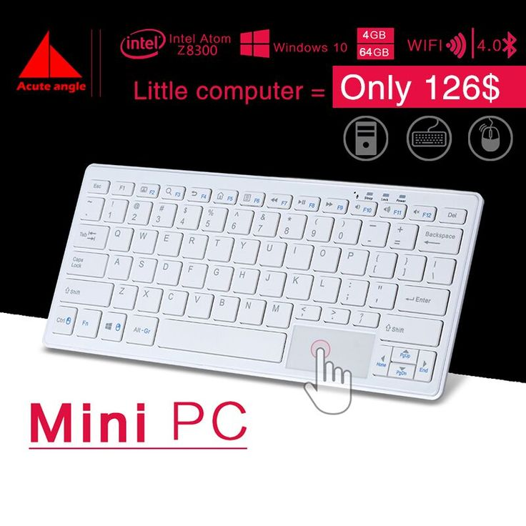 New Minipc Quad Core Mini PC Windows 10 Computer Keyboard  Mouse 1.33GHz Intel atom Z8300  HDMI TV Box WiFi/RJ45 Micro PC