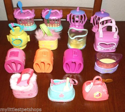 LITTLEST PET SHOP 15 CARRIER ACCESSORY LOT~CAGE Holder Carry Case MINI HOUSE