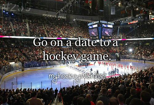 go on a date to a hockey game