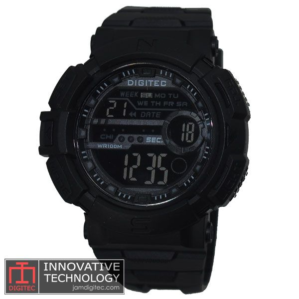 jam tangan digitec DG-3024T full black