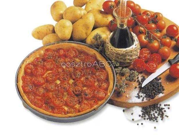 Pizza koktélparadicsommal | Receptek | gasztroABC