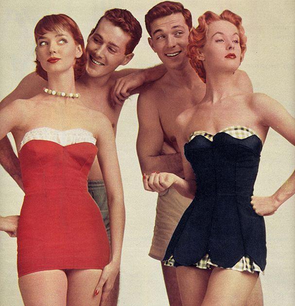 Vintage inspired bathing suit air