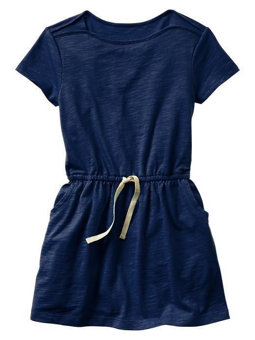 EUC Gap Kids Girl's Short Sleeve Navy Blue T-Shirt Dress XS (4-5)  | eBay