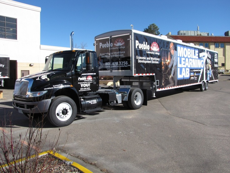 3M Vinyl Truck and Trailer Wrap for Mobile Learning Lab at Pueblo Community College