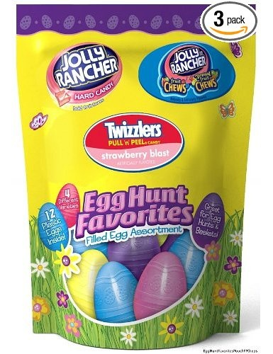 Hershey's Easter Candy Filled Egg Assortment (Jolly Rancher Hard Candy, Jolly Rancher Fruit Chews & Twizzlers Pull 'n' Peel), 4.8-Ounce Bags (Pack of 3): Amazon.com: Grocery & Gourmet Food