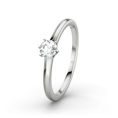 Gouden ring CORDOBA (Witgoud 375) Ring met Rookkwarts - 21DIAMONDS.nl - Verlovingsringen - Sieraad
