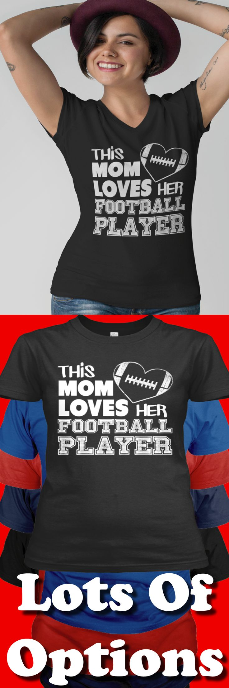 Football Mom: Are You A Football Mom? Love Your Football Player?  Great Football Mom Gift! Lots Of Sizes & Colors. Strict Limit Of 5 Shirts! Treat Yourself & Click Now! https://teespring.com/KF23-921