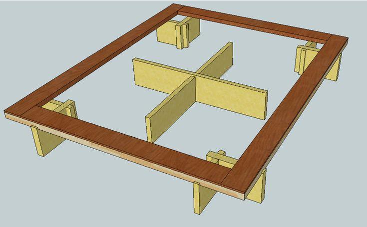 Queen Size Platform Storage Bed Plans Woodworking