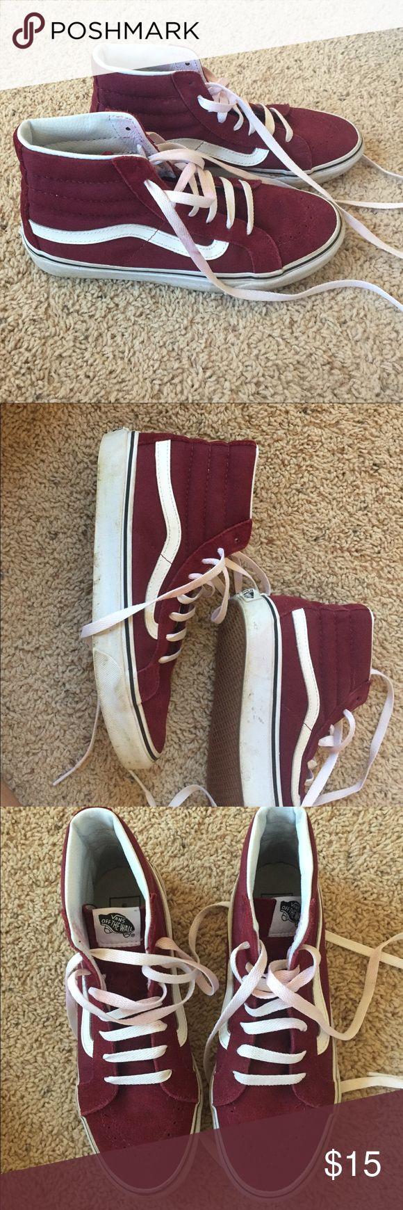 Maroon high top vans Maroon high top vans Vans Shoes Sneakers