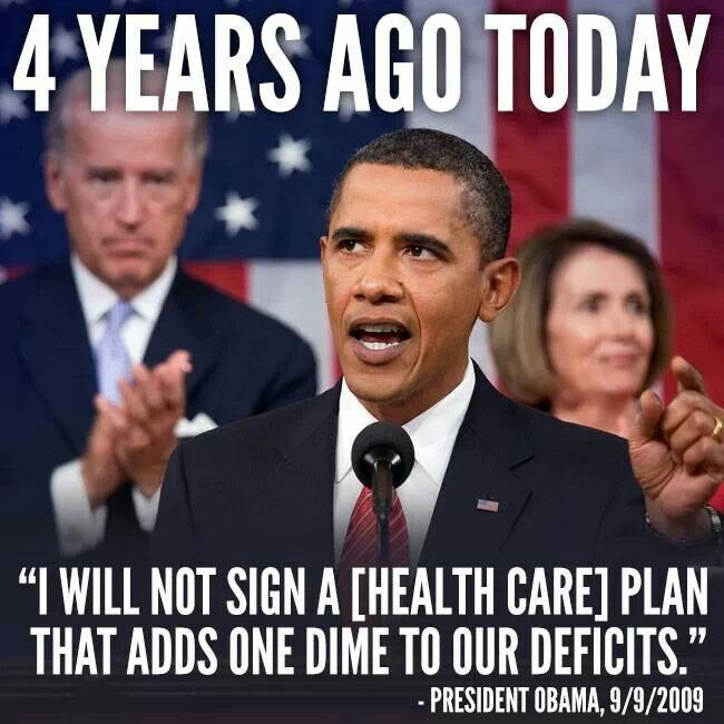 Obamacare. Another lie....and Hillary signed on for it!