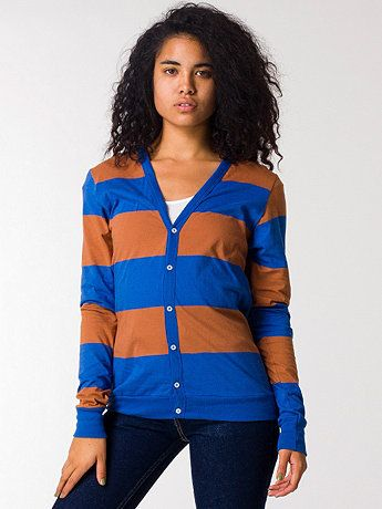 Unisex Cotton Wide Stripe  Jersey Cardigan from American Apparel.  omg, it's a Ravenclaw cardigan