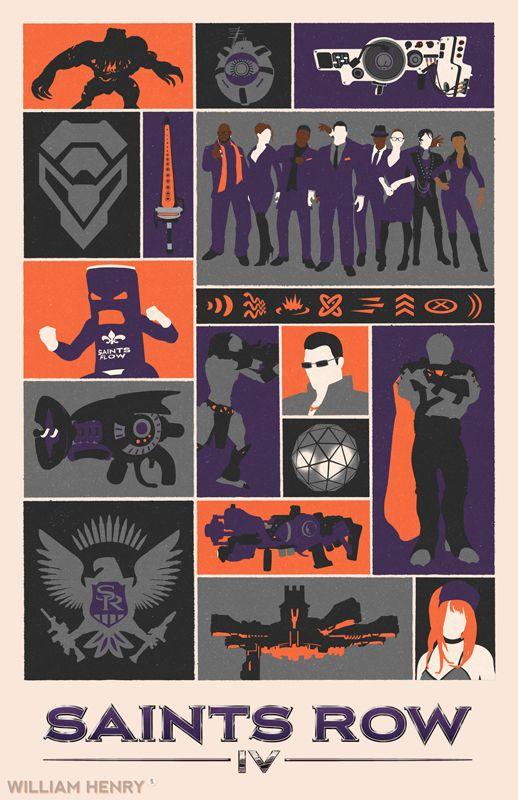 Saints Row IV - Poster by William Henry(Billpyle)  Deviant Art-Website-Tumblr-Twitter-Facebook
