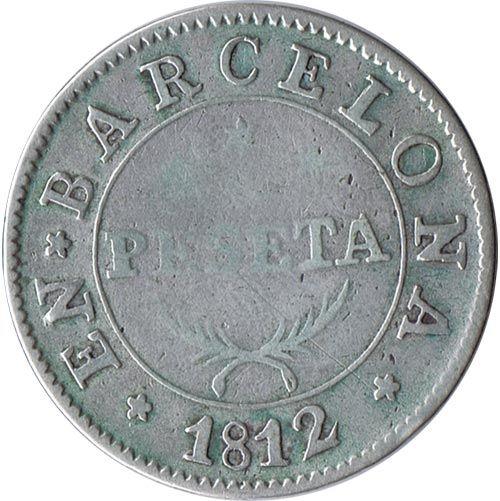 1 Peseta 1812 José Napoleón Barcelona. Plata