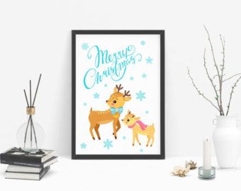 Christmas card or Wall art / Christmas printable / by PeharDesign