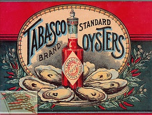 Vintage Tabasco Oyster Ad.