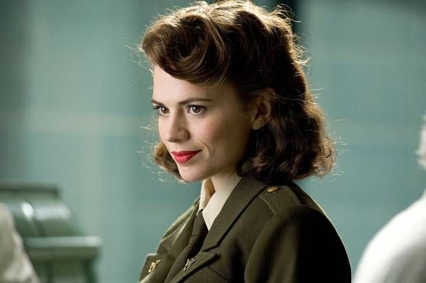 "She's got that red lip classic thing that you like, but ""Agent Carter"" needs more substance with her style  ""Red Velvet,"" made by Bésame Cosmetics"