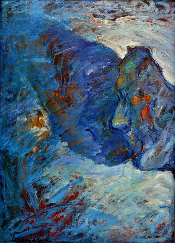 Autorretrato, óleo-cartón, 49x35 cm.