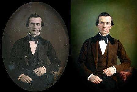 Designer adds dimension to photograph of Mormon leader Oliver Cowdery | Deseret News