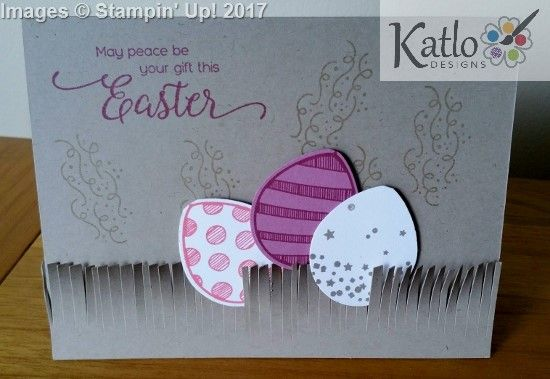 Birthday Adventure Balloons turned into Easter Eggs. Stampin' Up! Easter Card Making Ideas