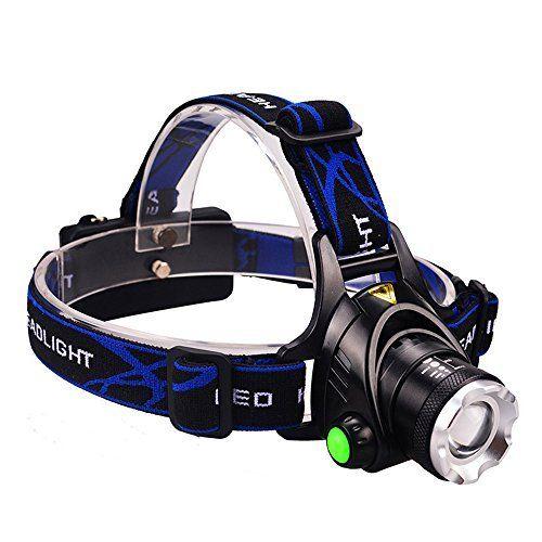 Lampe Frontale LED Ultra Puissante Rechargeable Etanche et Adjustable Confortable à Porter pour Chasse Pêche Camping ou Bricolage etc…