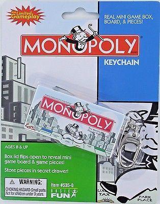 Miniatura-de-monopolio-Juego-De-Mesa-Llavero-Keyring-Basic-Fun-Token-dados-Clasico-Nuevo