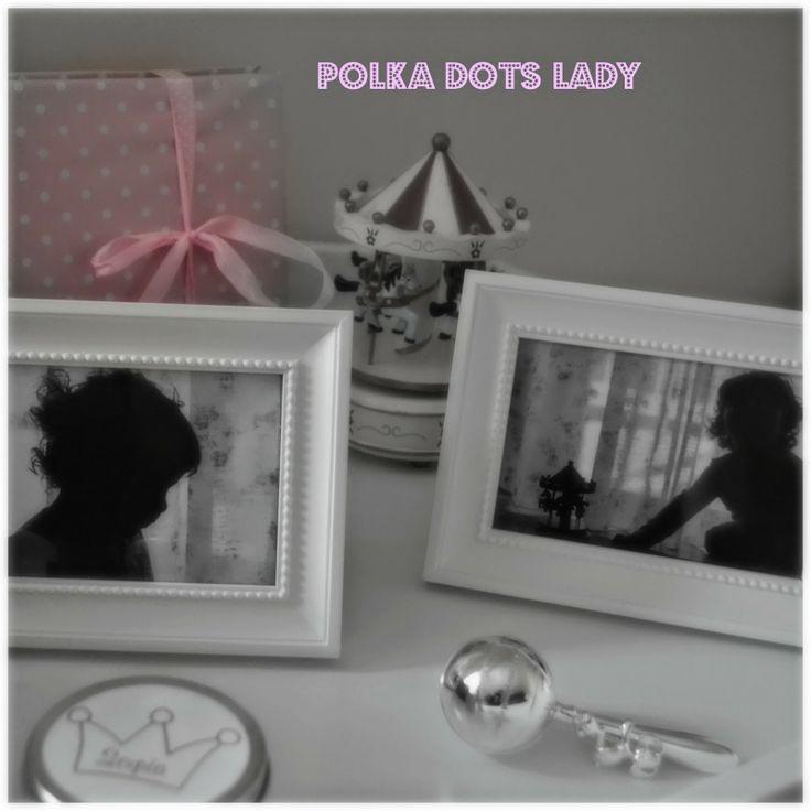Decoration ideas, photo portrait at polka dots lady