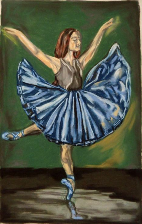 Buy Ballerina dream, Pastel drawing by Anna  Sasim on Artfinder. Discover original  art for sale, paintings, prints, dance art from independent artists. #dancer Soft pastel art on Pastelmat paper, woman drawing, woman painting.