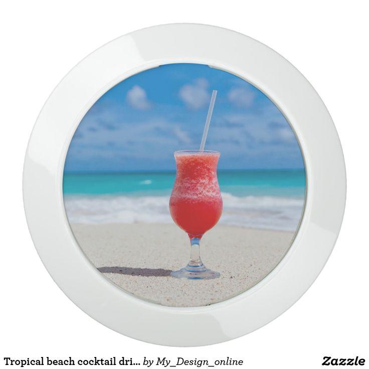 Tropical beach cocktail drink