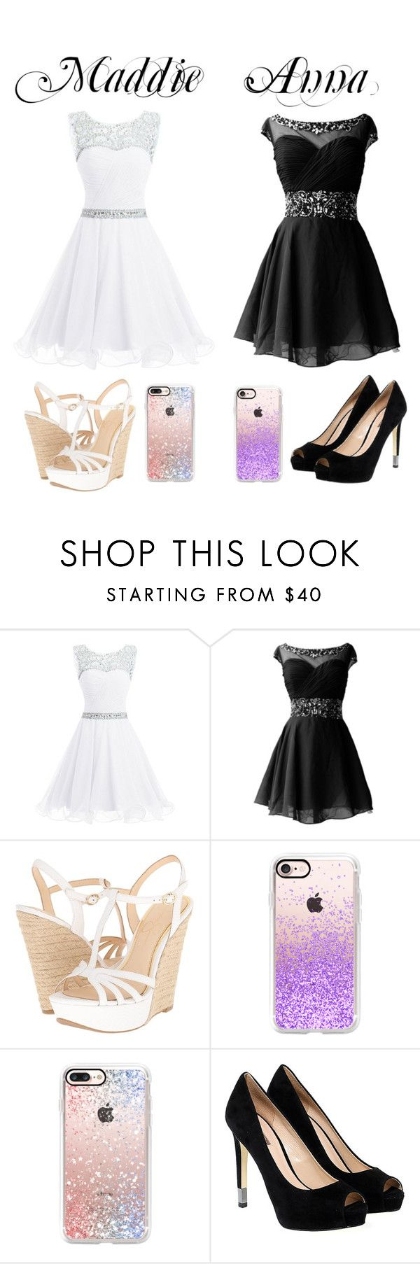 """""""BFFS"""" by annawell-1 ❤ liked on Polyvore featuring Jessica Simpson, Casetify and GUESS"""
