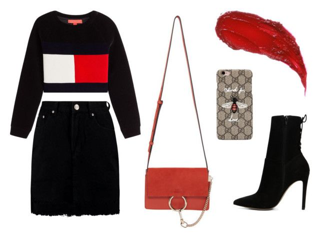 """""""Untitled #86"""" by martina-desiree ❤ liked on Polyvore featuring Boohoo, Chloé, ALDO and Gucci"""