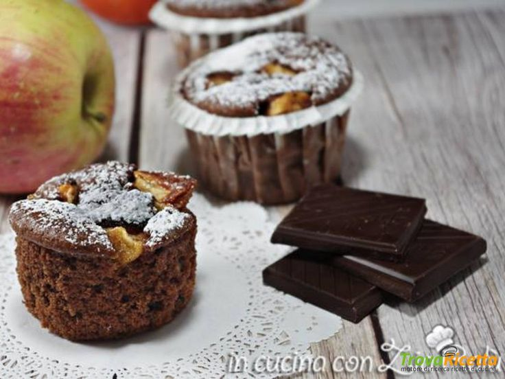 Muffins cacao mela e cannella  #ricette #food #recipes