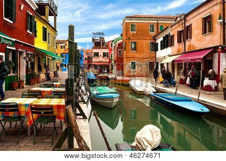 View Of Canal In Burano