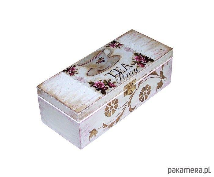 dodatki - pudełka i herbatnice-Pudełko na herbatę retro