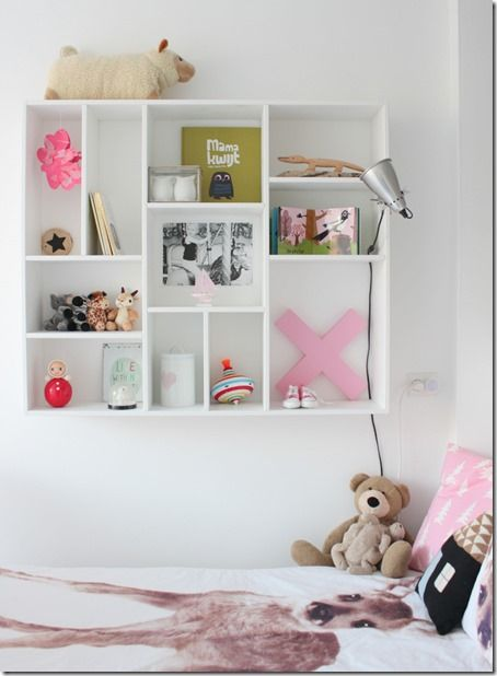 Slaapkamer Ideeen Tweeling : Girls' Bedroom Cubbies