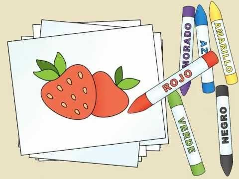 What color is the strawberry? - ¿Qué color es la fresa? by Calico Spanish - YouTube