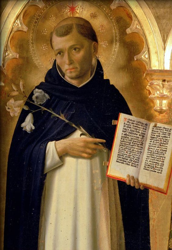 Saint Dominic, portrayed in the Perugia Altarpiece by Fra Angelico. Saint Dominic (Spanish: Santo Domingo) (1170–August 6, 1221), was the founder of the Dominican Order. Dominic is the patron saint of astronomers. The spread of the Rosary, a Marian devotion, is attributed to the preaching of St. Dominic. The Rosary has for centuries been at the heart of the Dominican Order, which has been instrumental in spreading the rosary and emphasizing the Catholic belief in the power of the rosary