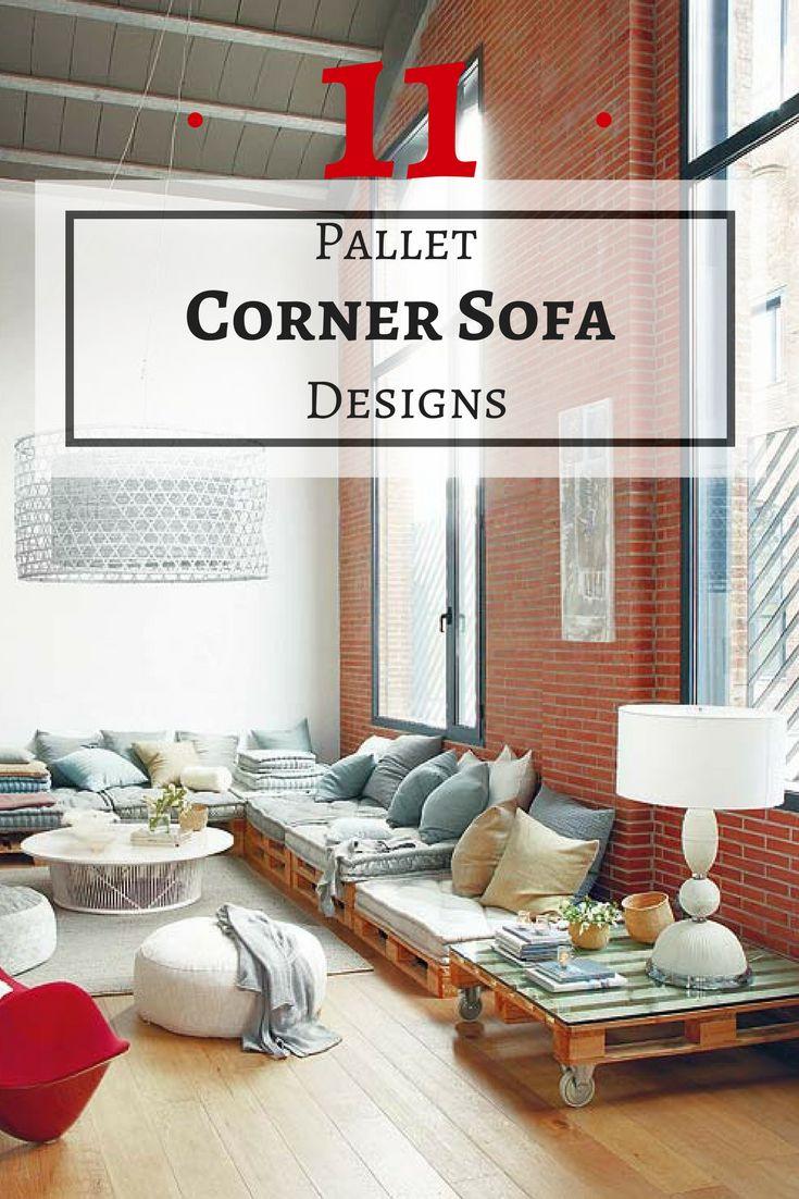 Corner sofa unique design living room sofa view modern new design - 11 Pallet Corner Sofa Designs