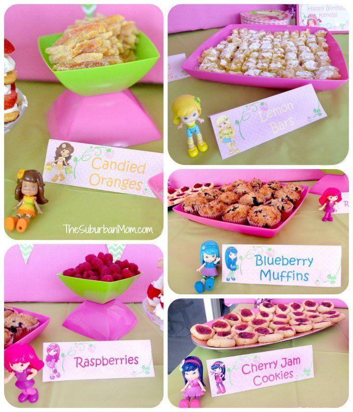 Strawberry Shortcake Birthday Party Lemon Orange Blueberry Raspberry Cherry